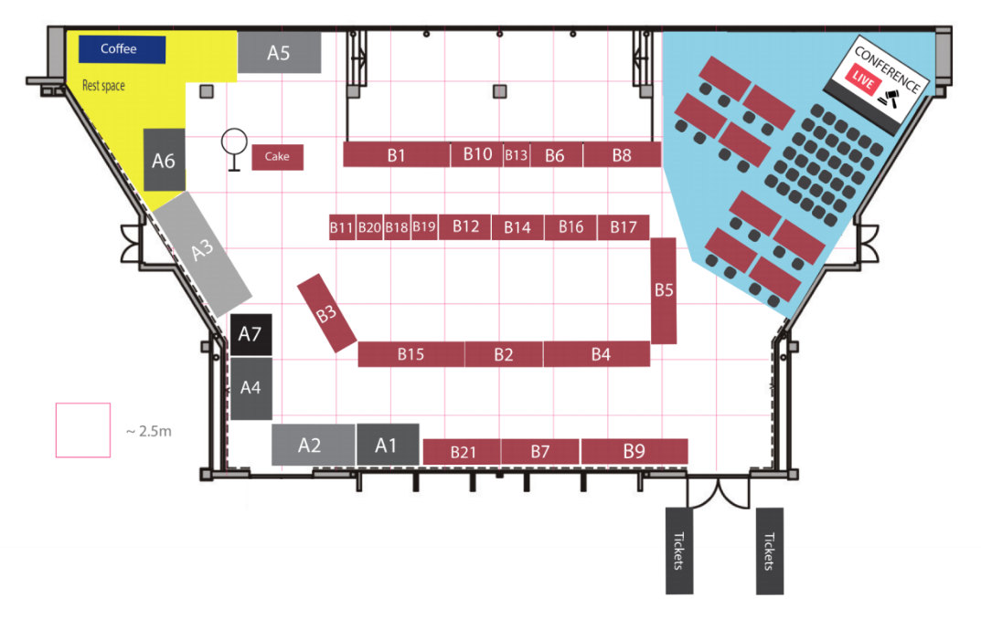 MS Coin Fair 2019 Floor plan